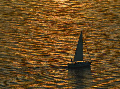 Sailing San Diego at Sunset